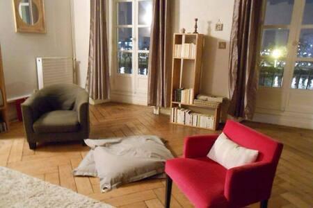 Chambre privée et salle de bain centre face Loire - Nantes