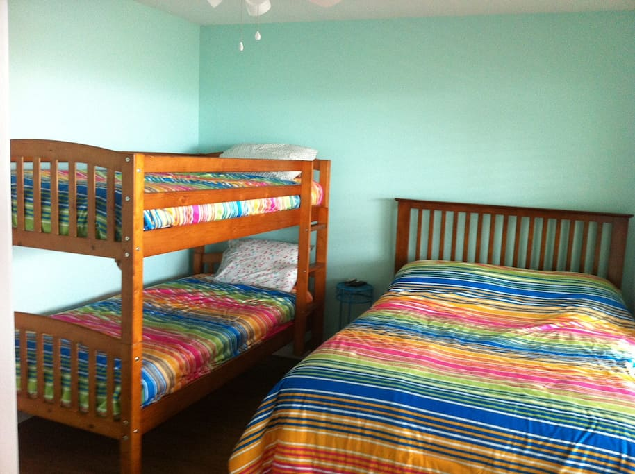 Bedroom #1   Full bed and twin bunks