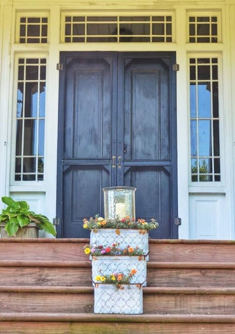 The Thompson House (main house) front door