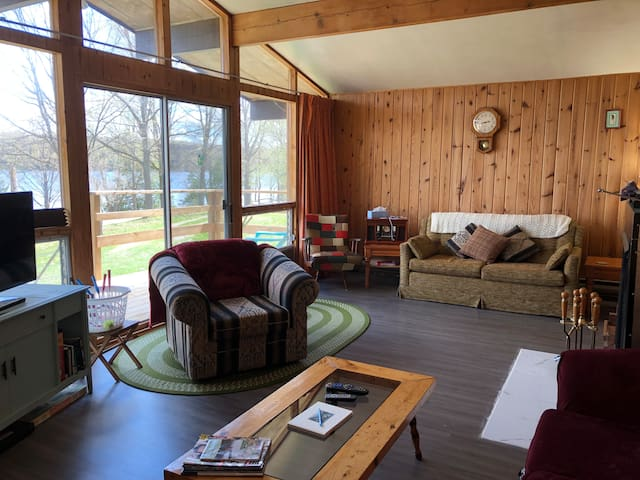 Welcome to MyPlace West Guilford, enjoy spectacular views of Pine Lake here in the Haliburton Highlands.