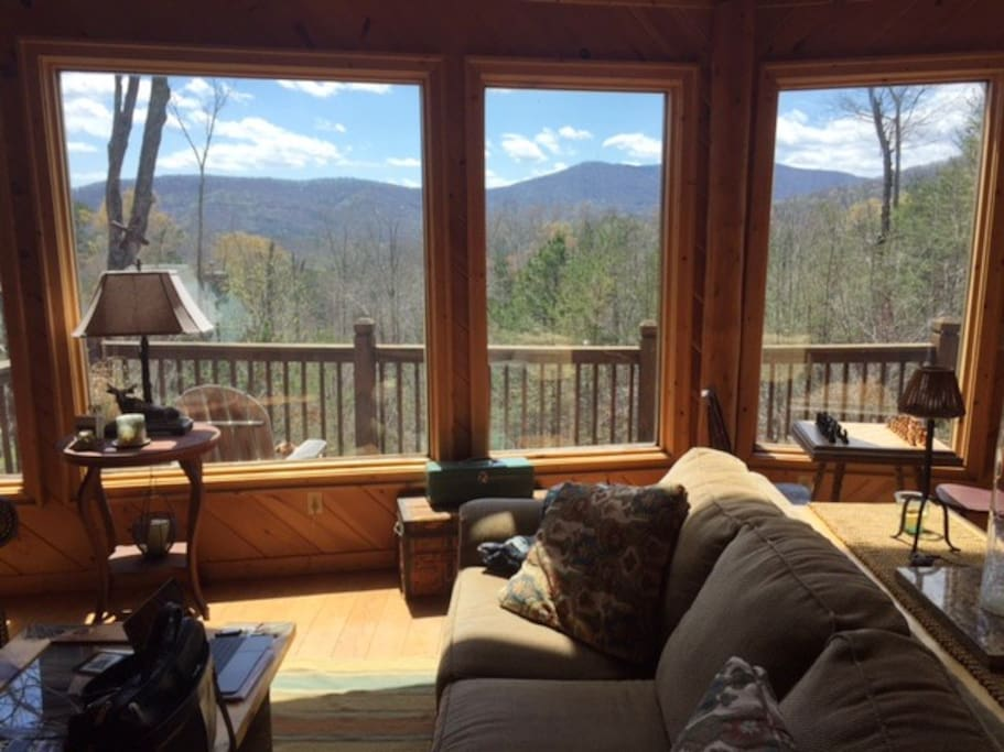 Beautiful mountain views from living room