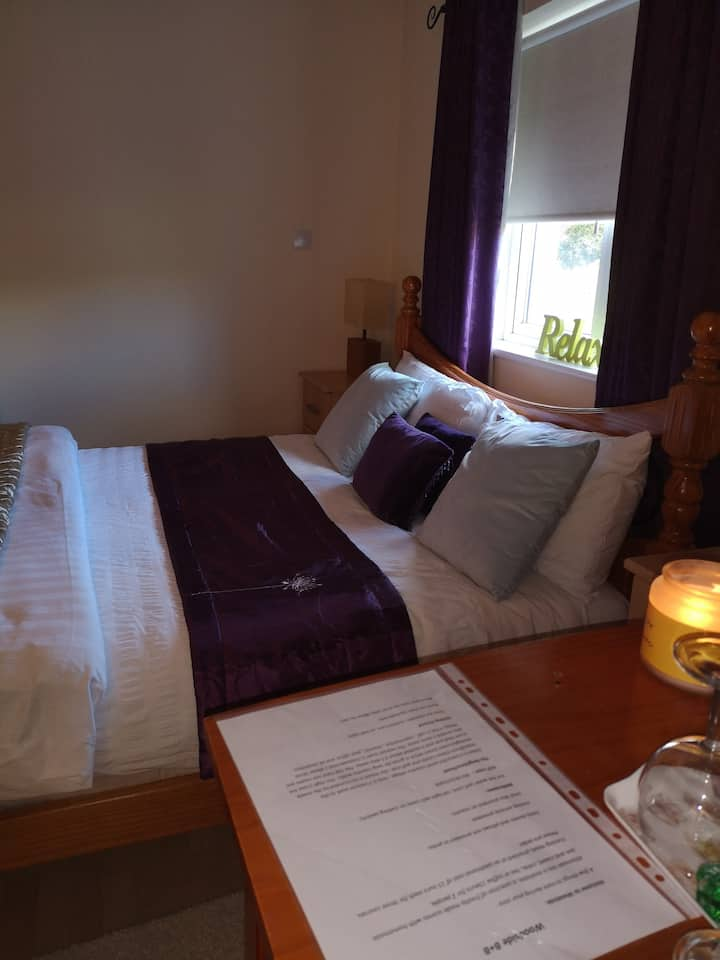 Private family suite  with bathroom sleeps 4 /5