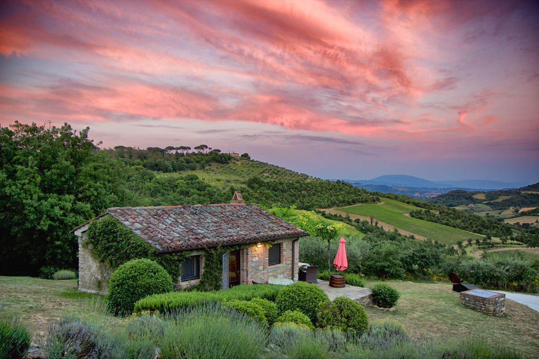 La Stalla and the sunset