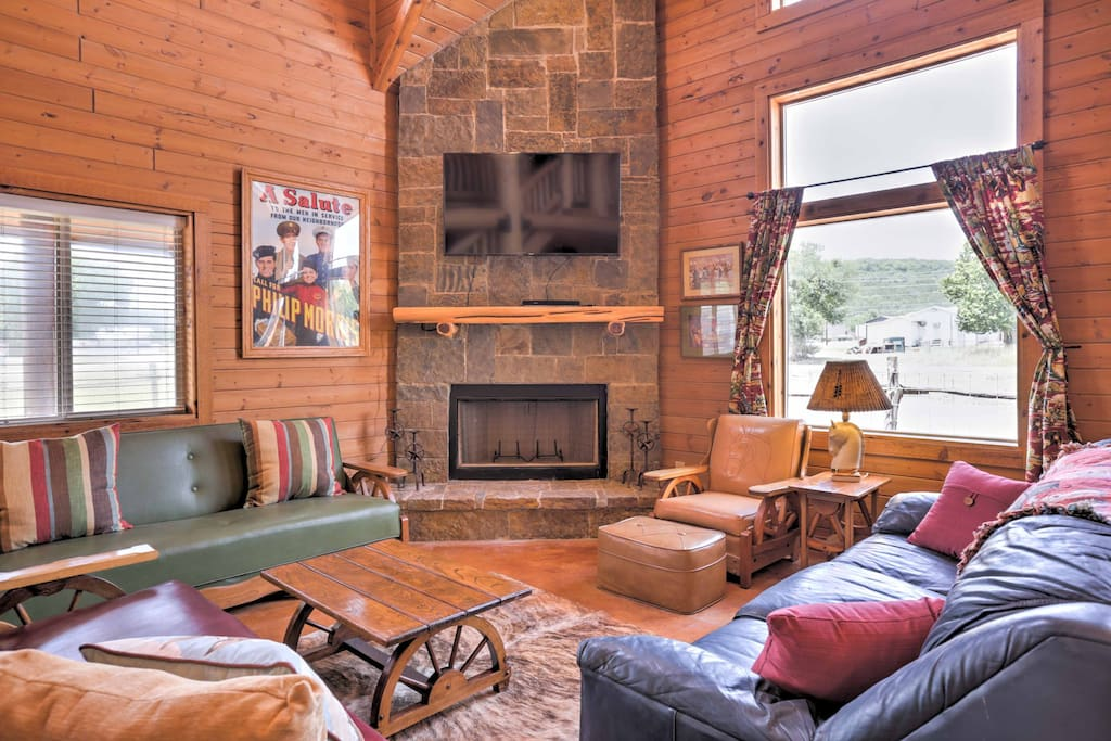 The spacious 1,750-square-foot cabin is the perfect home base for your next visit to the Guadalupe River.