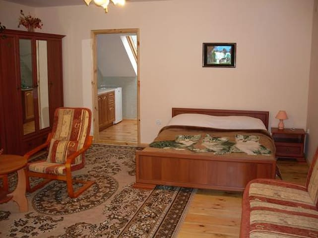 Double comfortable studio with furnished terrace and beautiful view of the forest