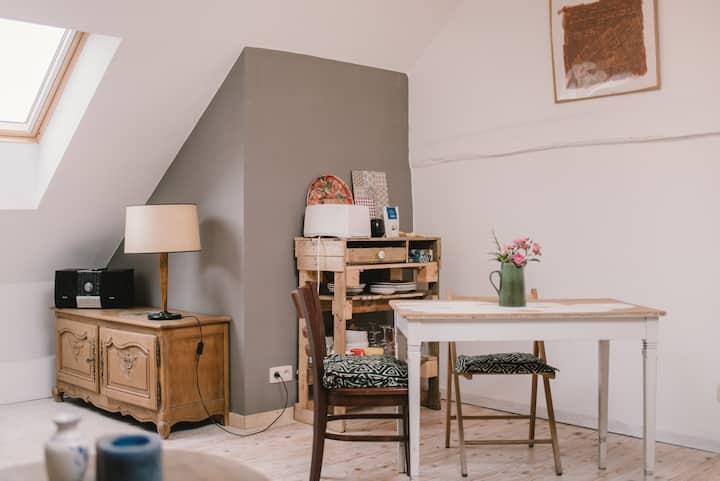 Charmant studio avec Jardin à la campagne