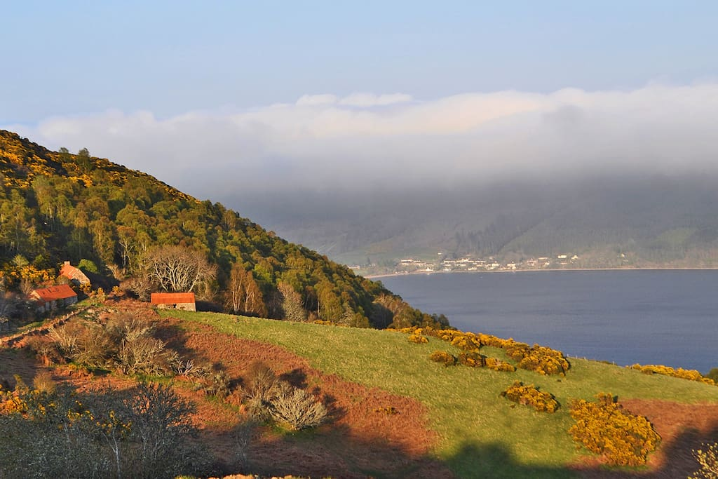 The views to Achcullin and Dores from the Bedroom…
