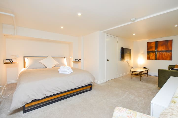 Modern lower level suite in Roncesvalles/High Park
