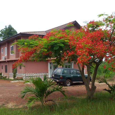 Pakas Lodge, Asiwa. Local food available.