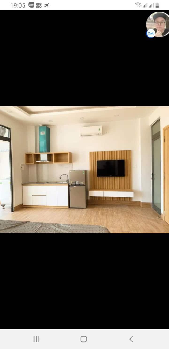 Cho thuê căn hộ mới xây full nội thất