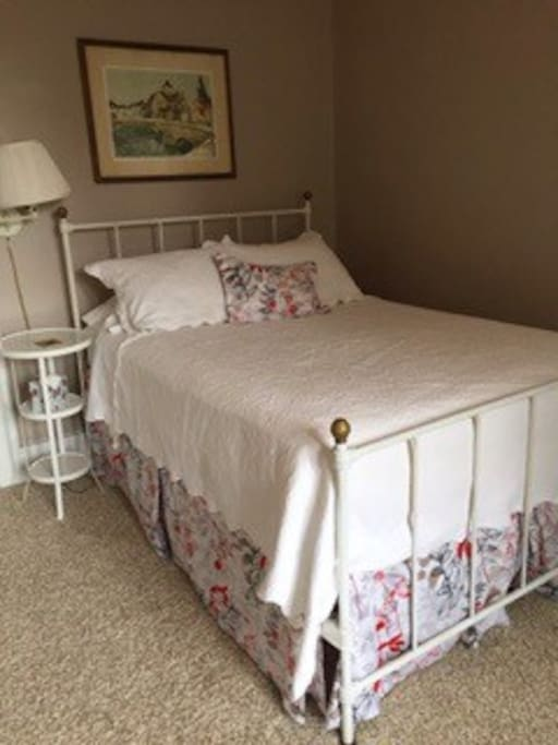 Sleep in an antique Iron bed