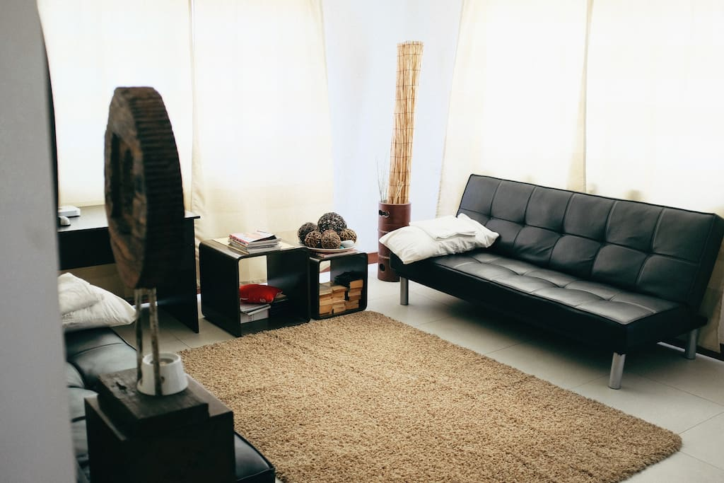 Our living room is also airconditioned for 5 or more guests