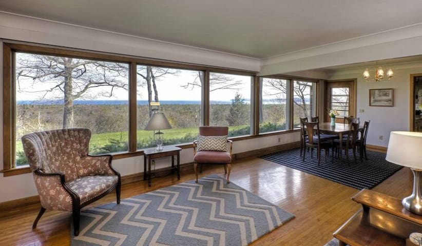 Spacious Home with Spectacular Lake Michigan Views on Four Acres