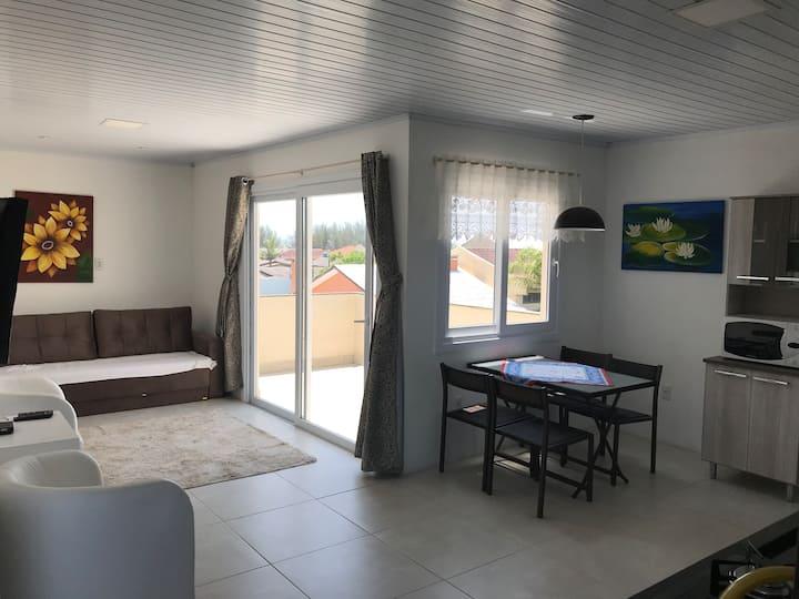 Apartamento Vista 360°- 80 metros da Praia