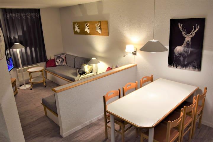 Mooi apartment prachtig zicht Belle Plagne 2050m
