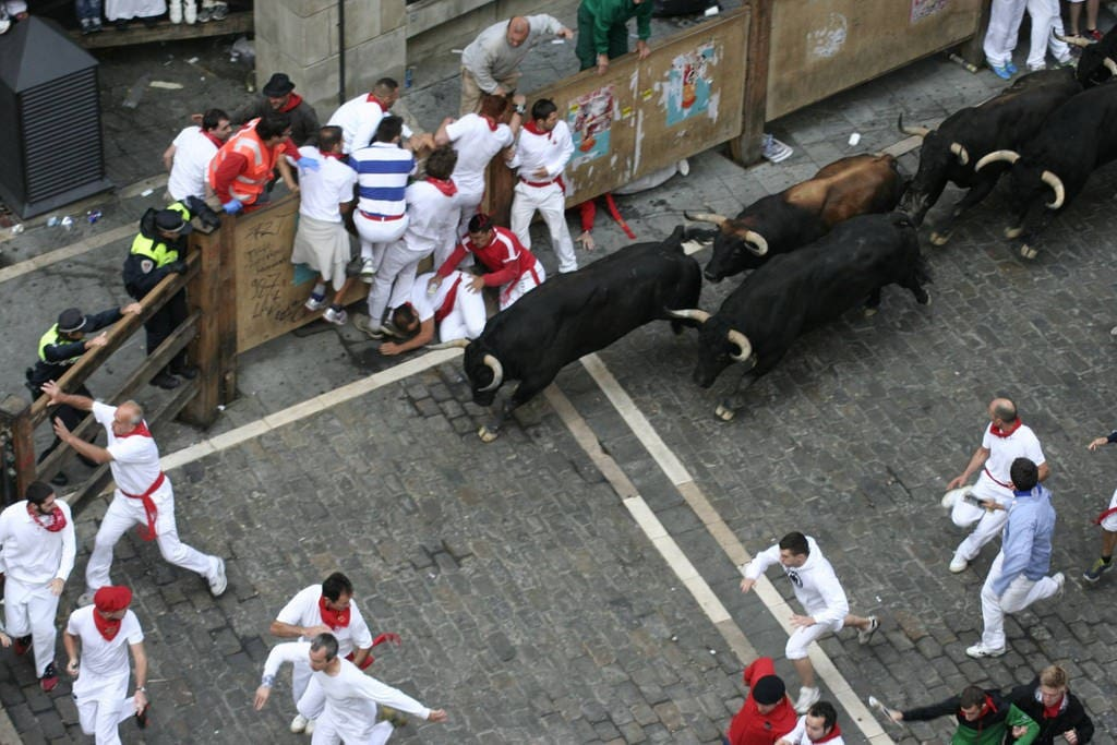We have great Balconies to Watch The Bull run available to book seperately