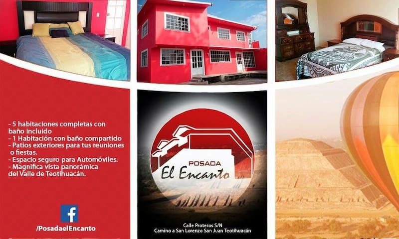 Hotel Posada El Encanto - Teotihuacán de Arista - House