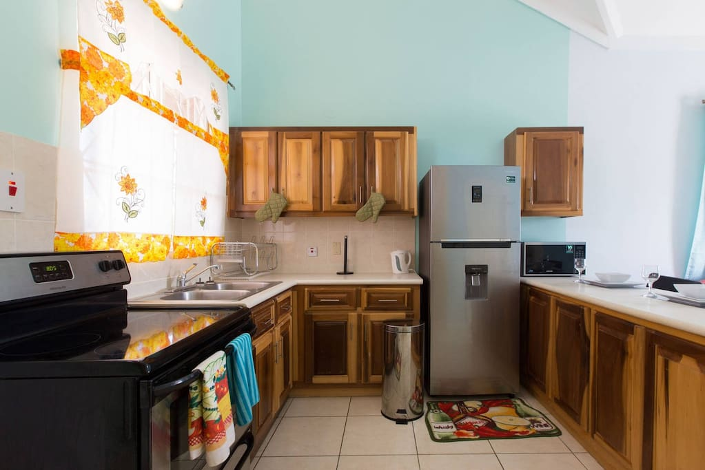 Prepare home cooked meals in your fully equipped kitchen.