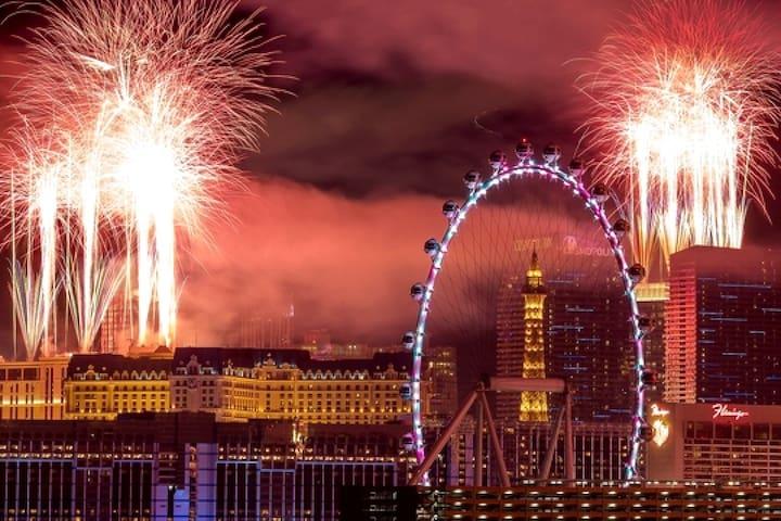 Las Vegas Lights on New Year's Eve