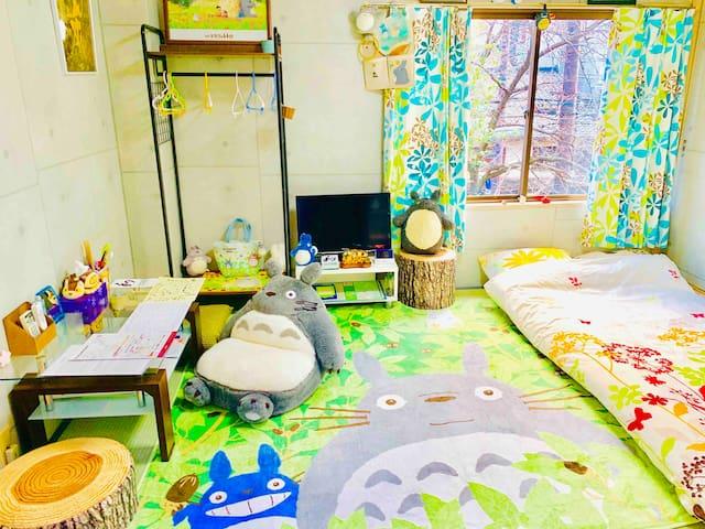RiverView TOTORO Room in central Kyoto SAKURA 桜