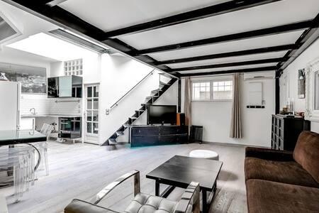 Loft open floor plan, kitchen and room - Paris - Loft