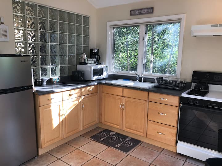 inside of small kitchen