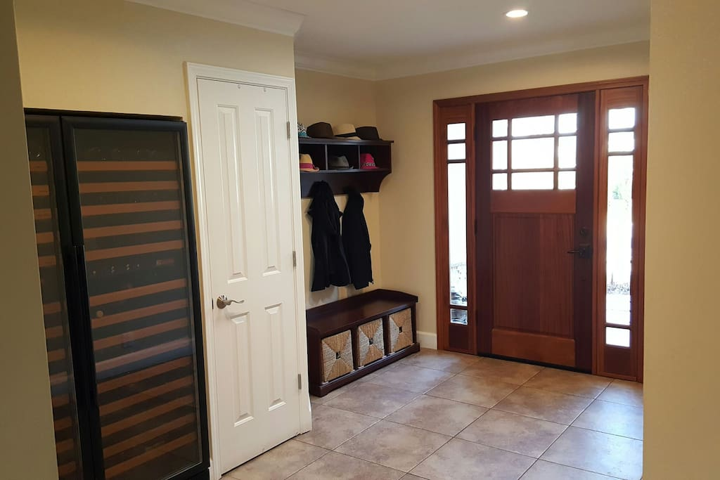 Large bright entryway.