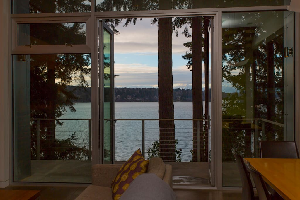 Fire up the grill with a view off your open concept living area