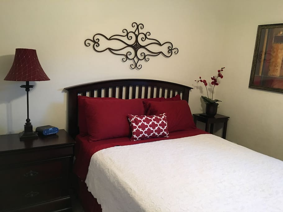 Bedroom #2 has a very comfortable queen size bed with new pillows by Sealy and Alerease protective pillow covers. It also has a walk-in closet. There is a Smart TV with Netflix and Amazon Prime Video.