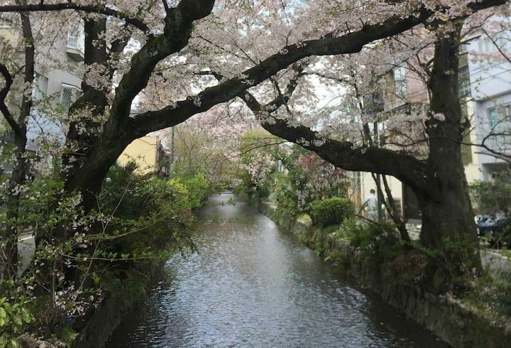 窓から高瀬川が見える美しい京都町家 一日一組限定でまるごと貸し切り♬