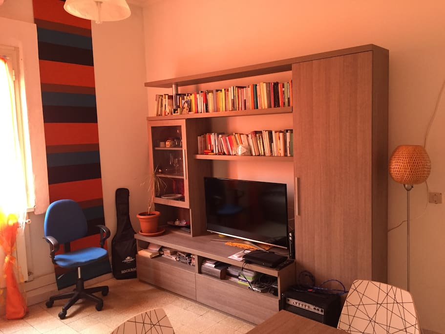 The library and tv