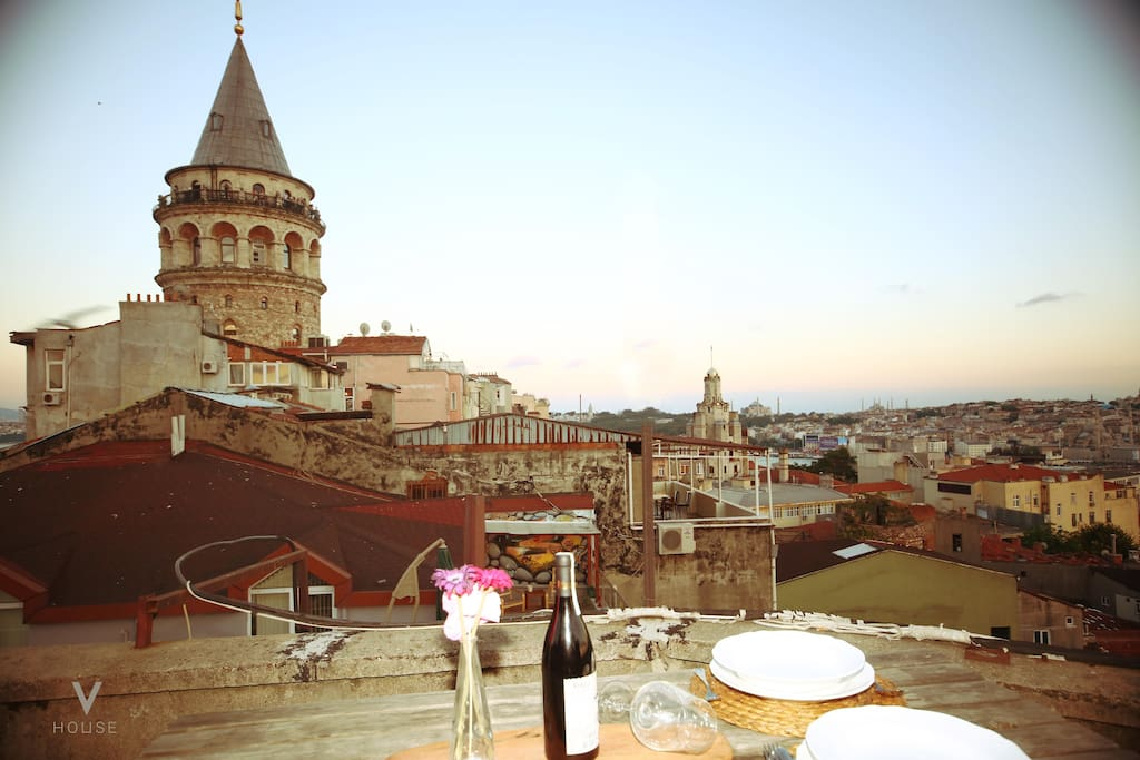 unique historical galata tower view