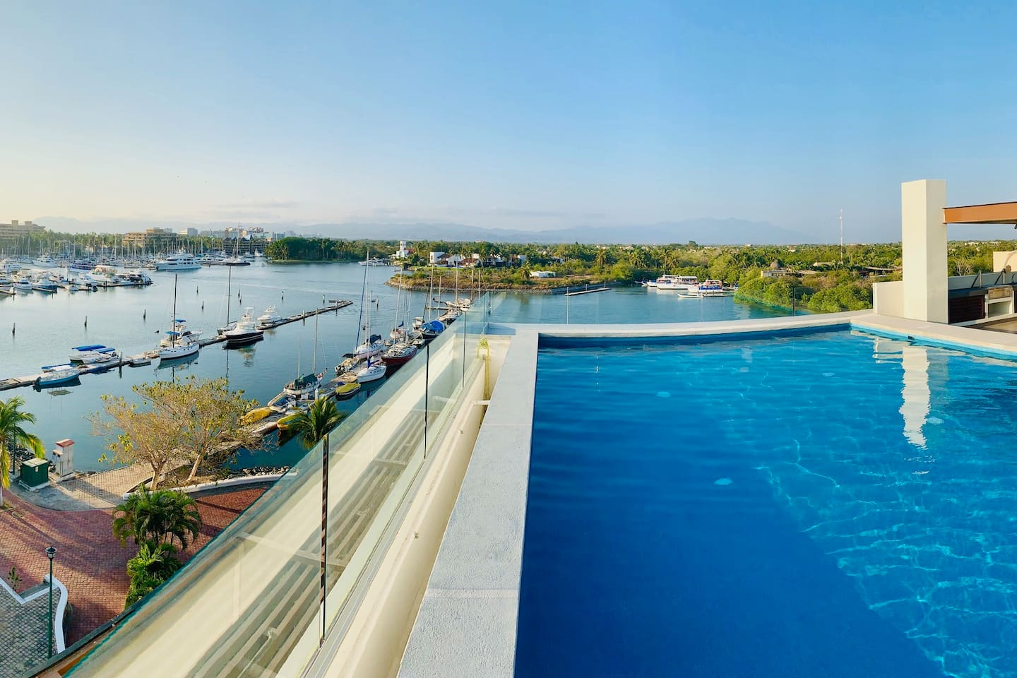 panoramic rooftop pool with amazing views