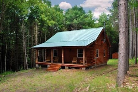 SECLUDED CUSTOM BUILT LOG CABIN! Private w firepit