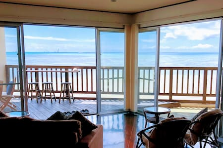 Oceanfront wide terrace !!  2 bed room+tatami room