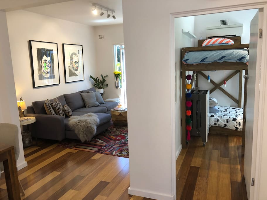 Living room and Bunk room