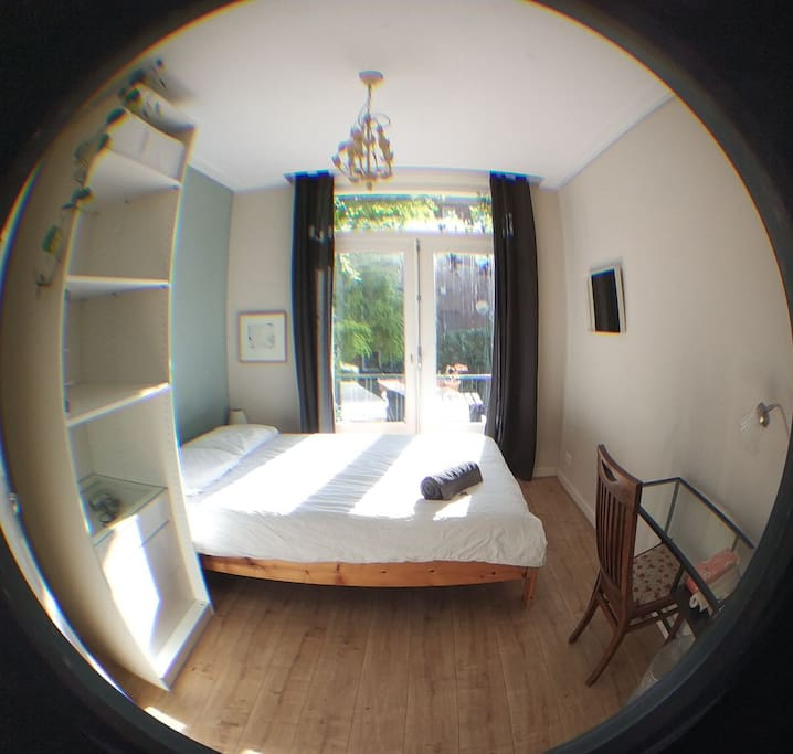 Taken with a fish eye lense in case you were wondering how to room has grown suddenly. It's not a very big room ;)