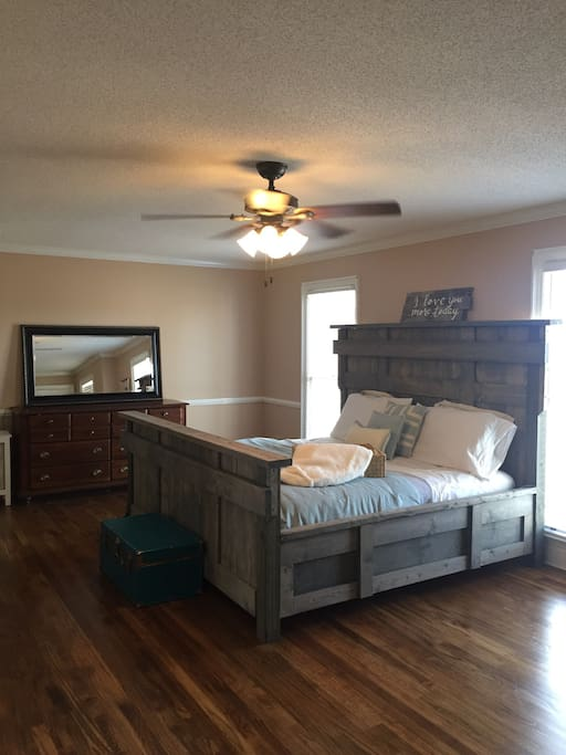 California King Bed in Master Suite.