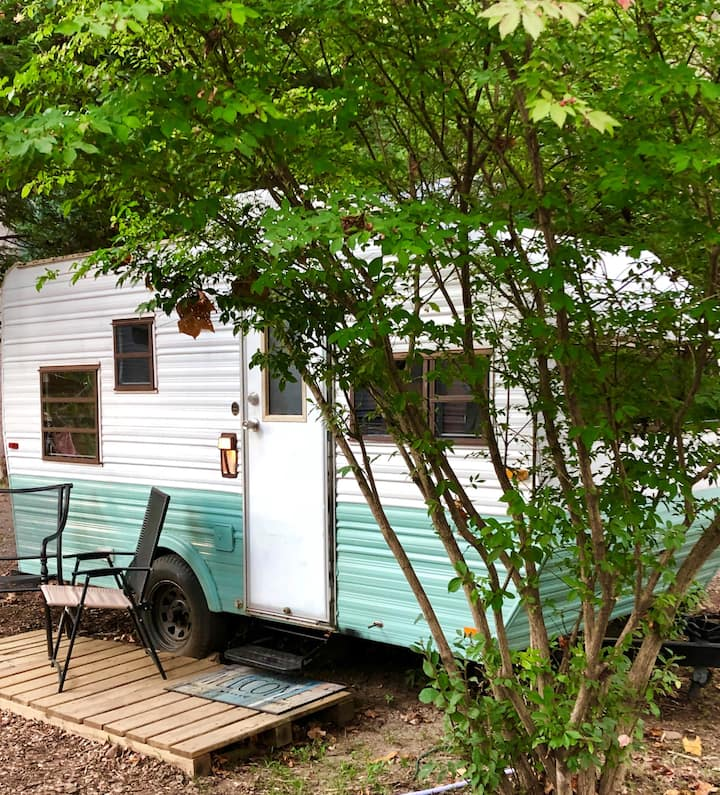 Vintage Camper on The Nolichucky