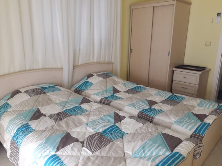 Twin Bedroom. Near Altinkum Beach. Didim. Turkey.