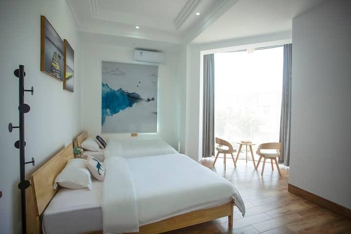 湄洲岛民宿欧式落地窗观景双床 码头免费接送305