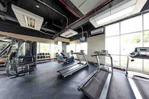 Free access to the gym; located on the 10th floor, right across the laundry place and convenience store