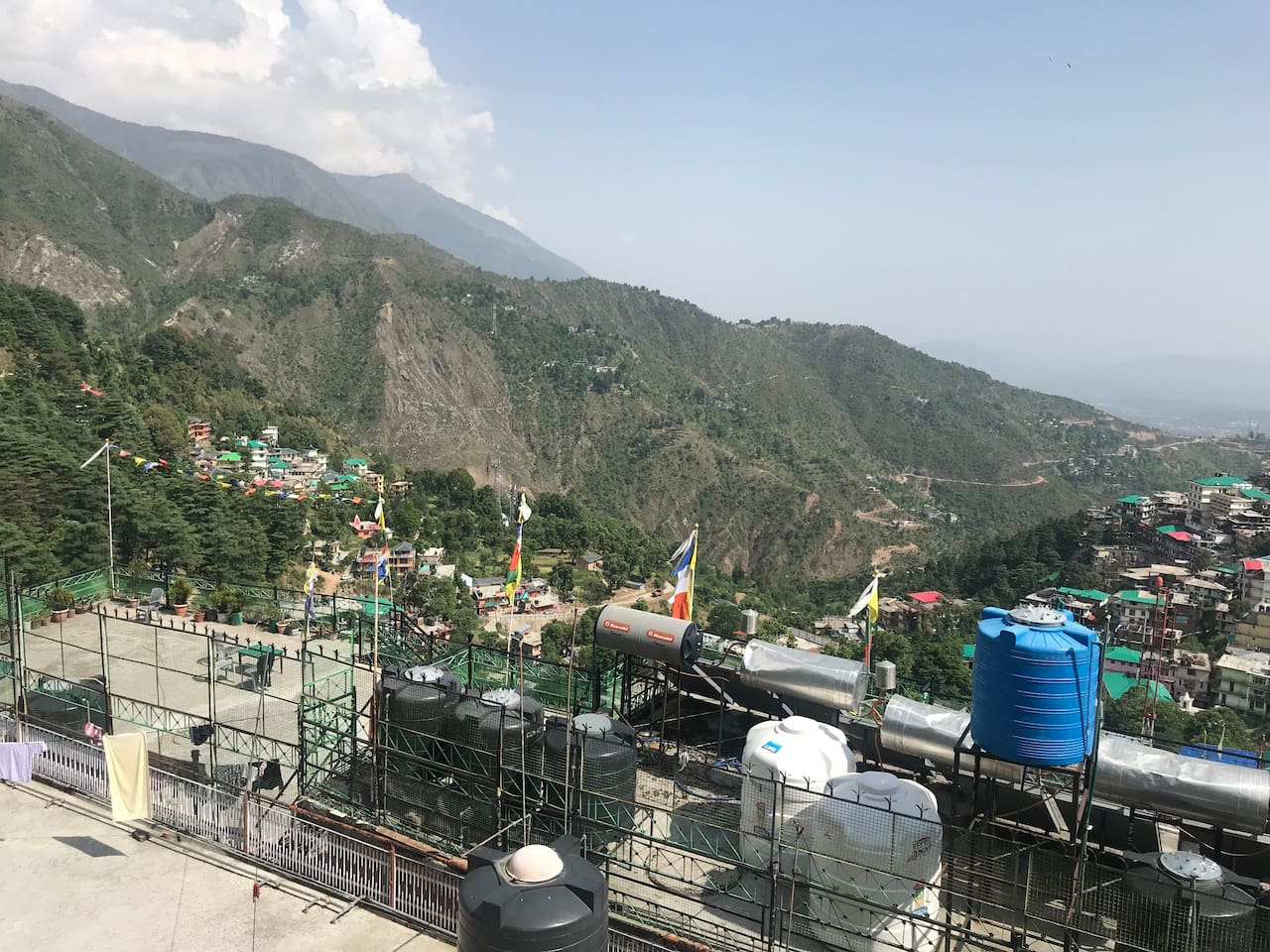 This is the best view of whole McLeod ganj from our guest house terrace. You can enjoy a part of the famous dhauladhar range and morning sunrise from the east.