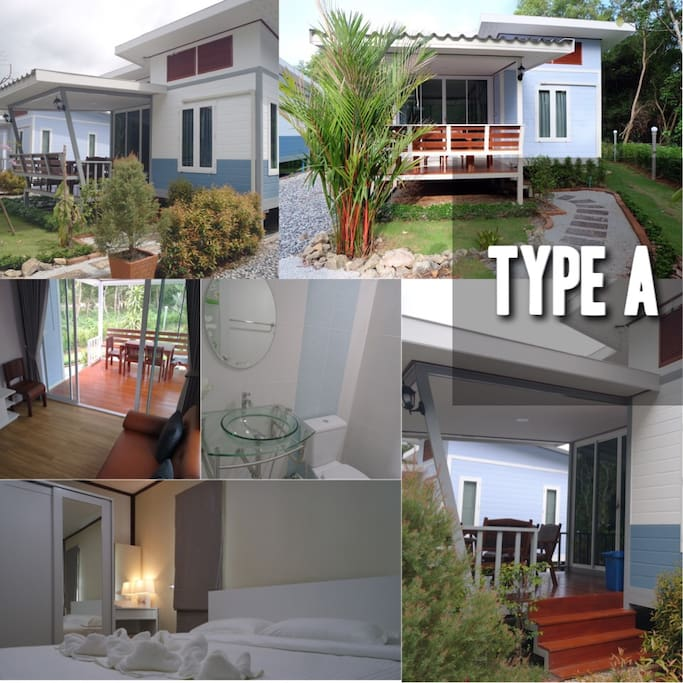 Type A 2,000 baht/night (2 - 4 guests ) 1 bedroom 1 living room+dinning room 1 bathroom