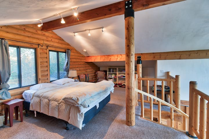 Open and tasteful, the loft bedroom provides plenty of room to spread out and relax.