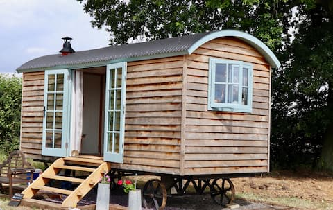 Bespoke Shepherd Hut on a Rural Essex Farm
