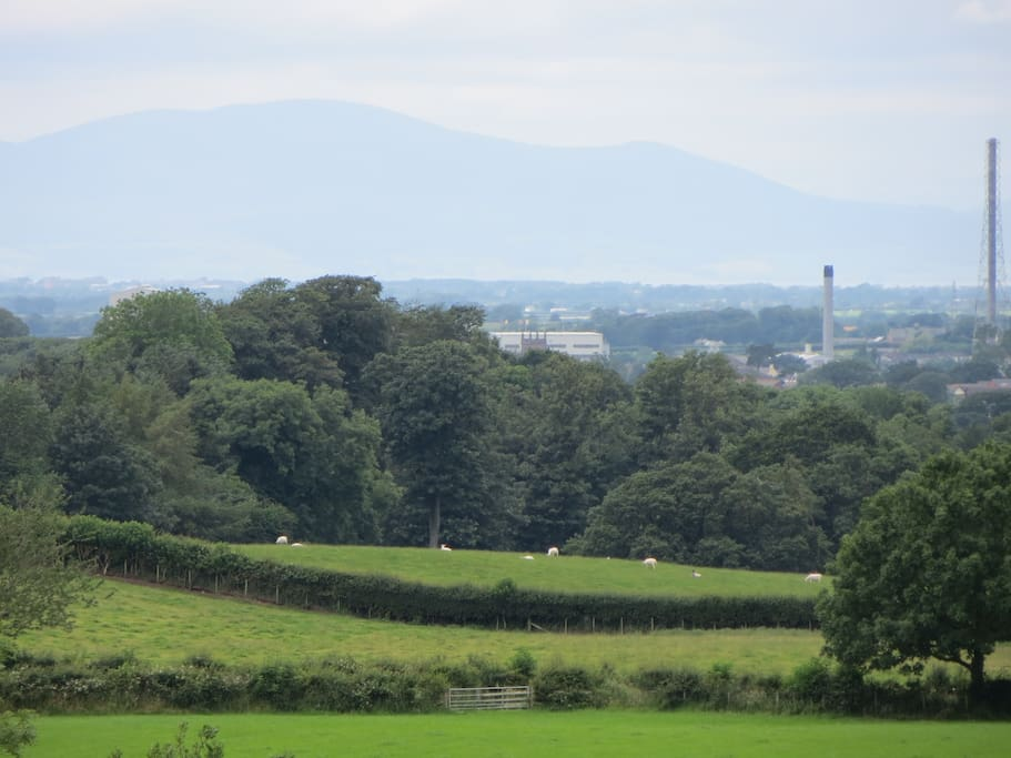 View to the North West - Scotland in the Distance.
