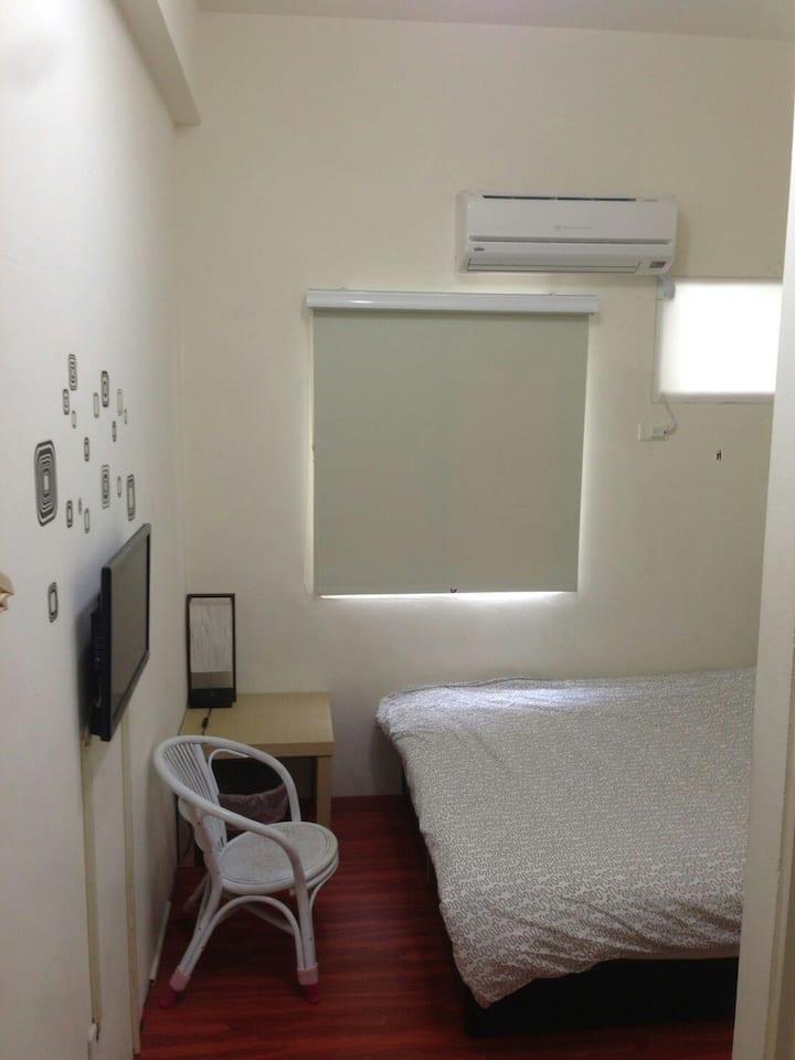 提供雙人房住宿,夢想是有個便宜乾淨的理想住宿。