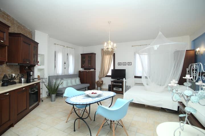 Beautiful studio in Afytos-sterilized by UVC ligh