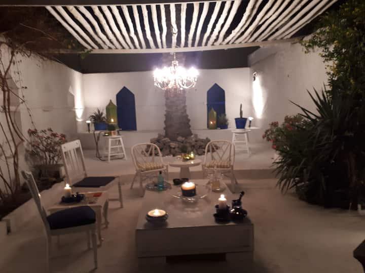 Courtyard living.  The calmness and Zen.